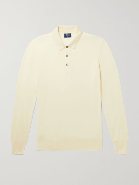 WILLIAM LOCKIE Slim-Fit Merino Wool Polo Shirt