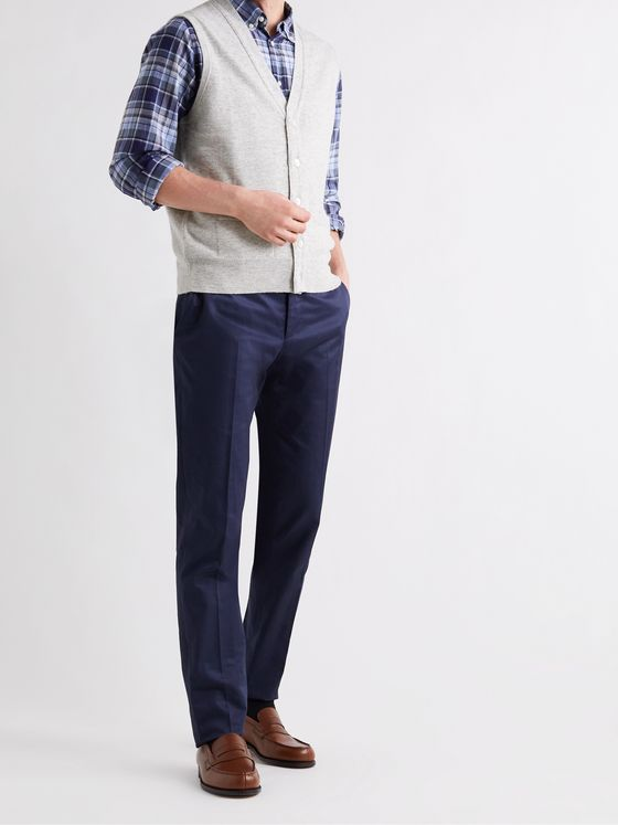 WILLIAM LOCKIE Oxton Cashmere Sweater Vest