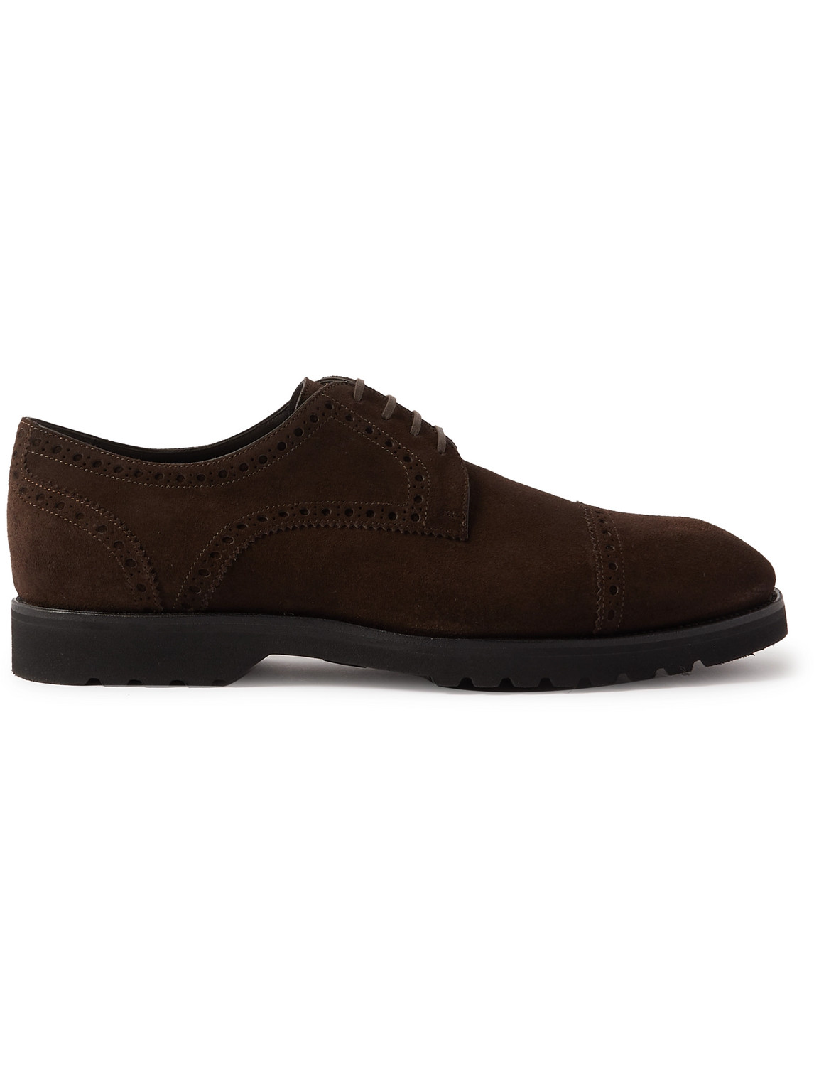 Tom Ford Suede Brogues In Brown