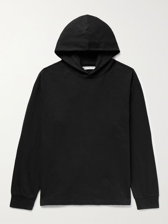 Y-3 CH3 Logo-Print Organic Loopback Cotton-Jersey and Shell Hoodie