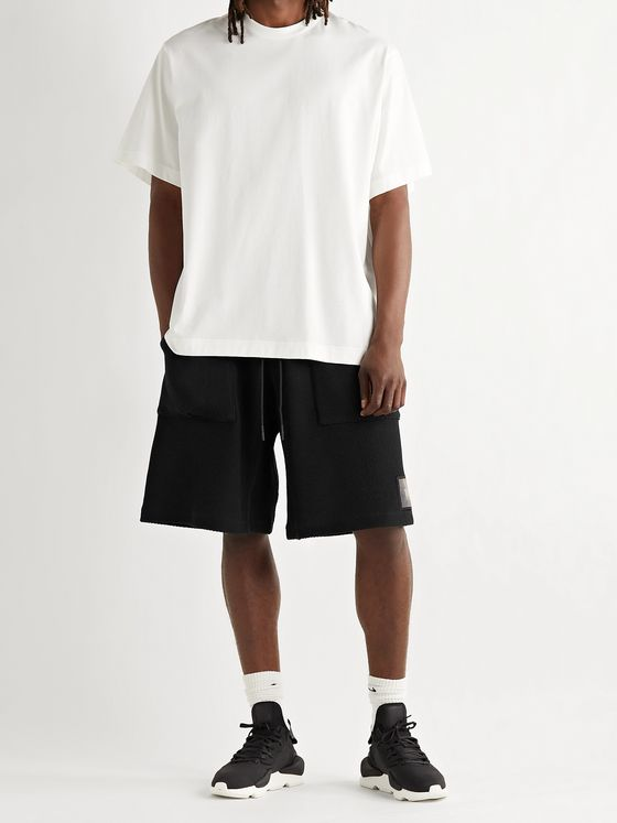 Y-3 Shade Logo-Appliquéd Stretch-Mesh Drawstring Shorts