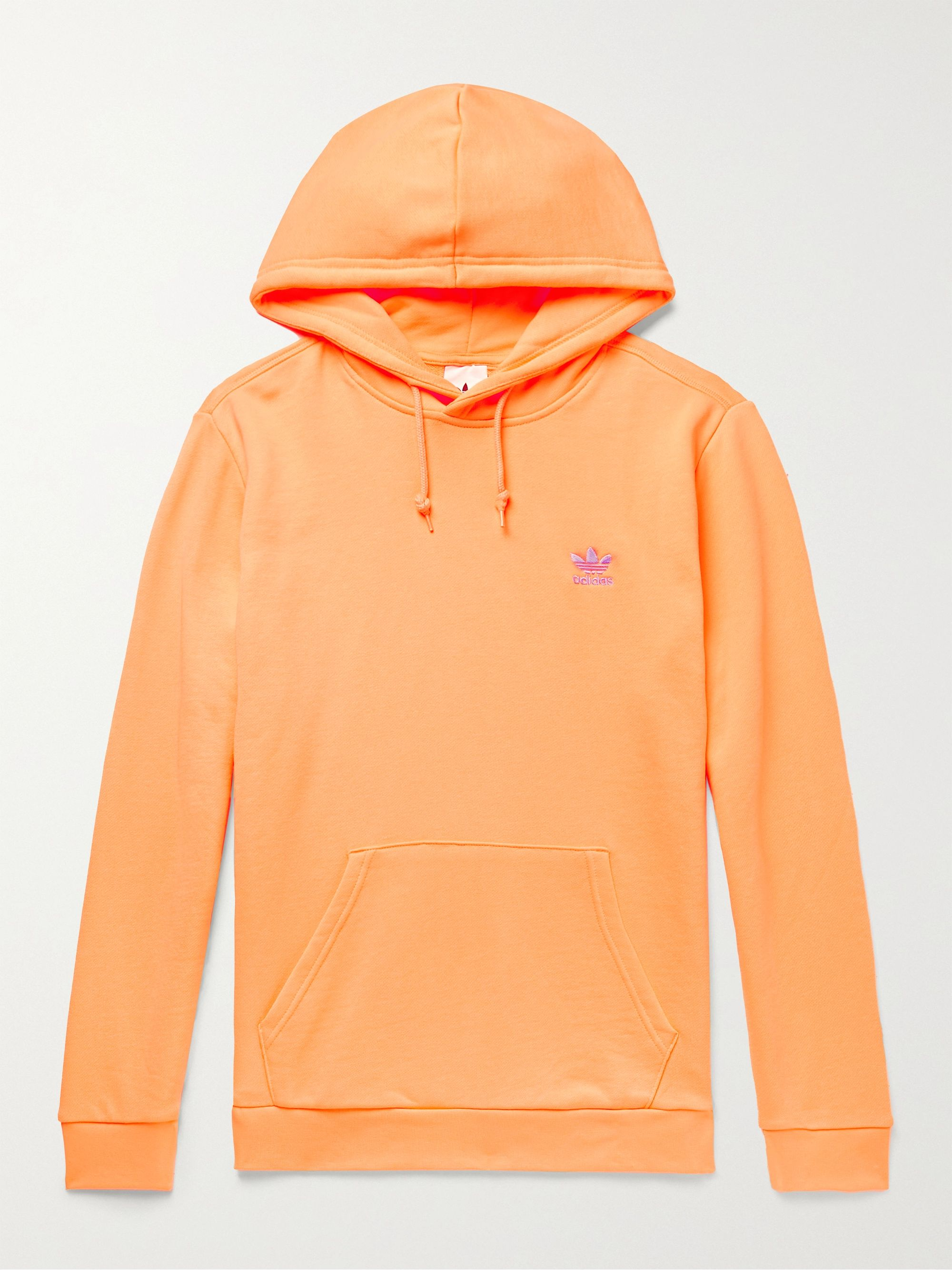 Essentials Logo-Embroidered Loopback Cotton-Jersey Hoodie