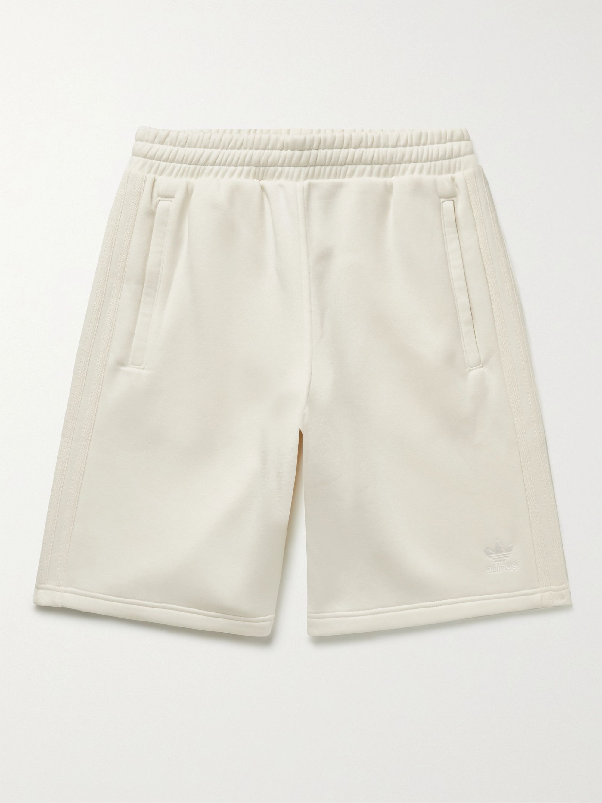 Adicolor 3 Stripes Logo-Embroidered Cotton-Blend Jersey Shorts