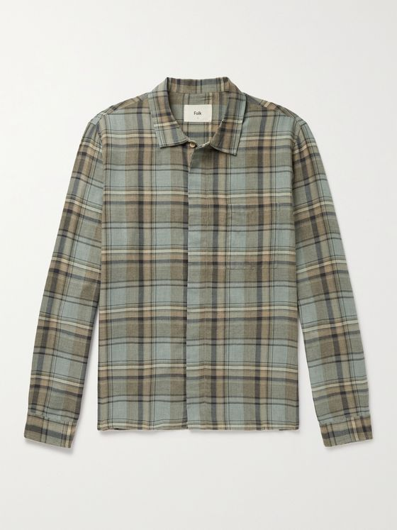FOLK Checked Cotton Shirt