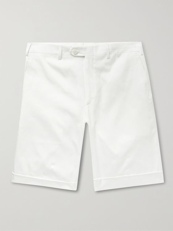 BRIONI Cotton-Gabardine Shorts