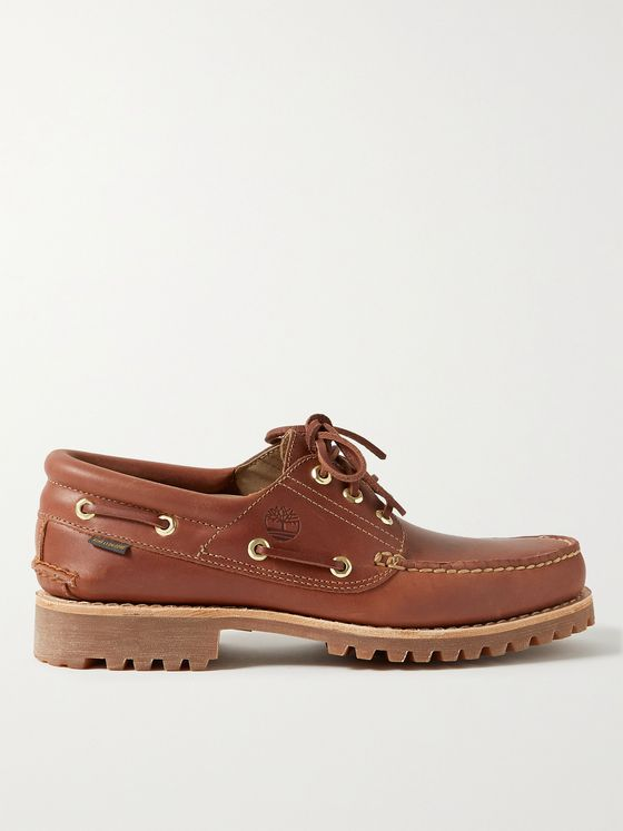 TIMBERLAND + Aimé Leon Dore 3-Eye Lug Leather Boat Shoes