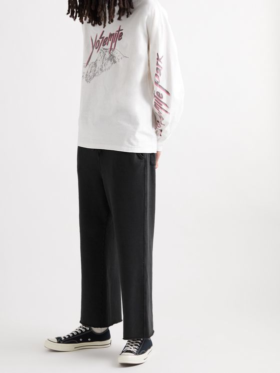 REMI RELIEF Loopback Cotton-Blend Jersey Sweatpants
