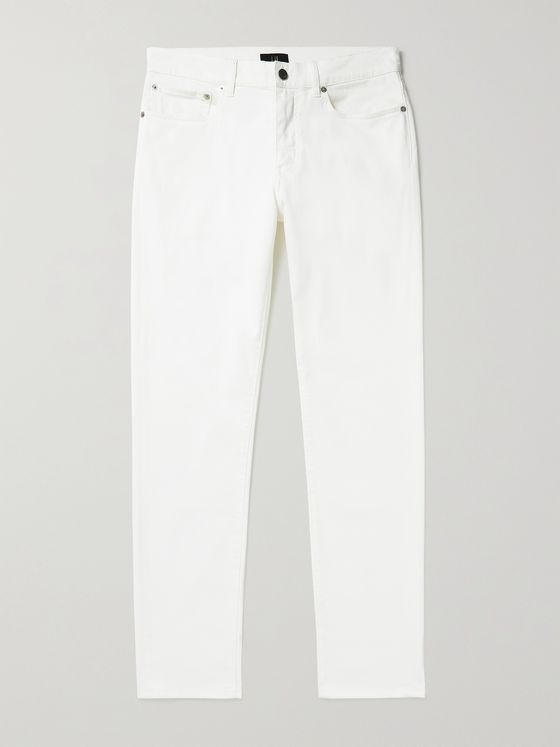 DUNHILL Tapered Cotton-Blend Twill Trousers