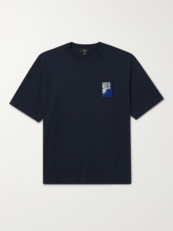 DUNHILL Logo-Appliquéd Cotton-Jersey T-Shirt