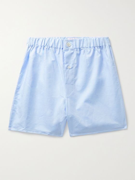 EMMA WILLIS Linen and Cotton-Blend Boxer Shorts