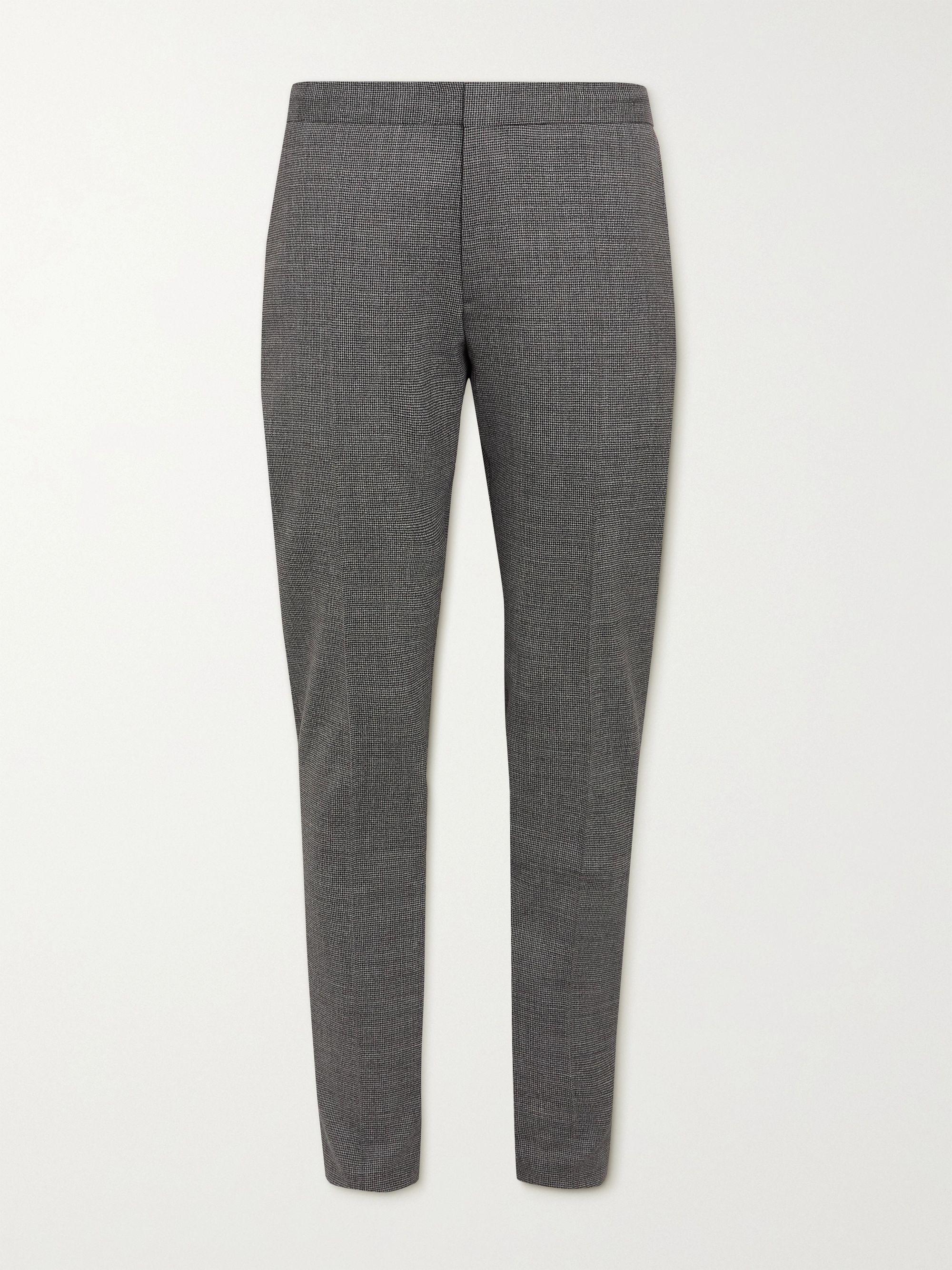 HUGO BOSS Slim-Fit Puppytooth Stretch Virgin Wool Trousers