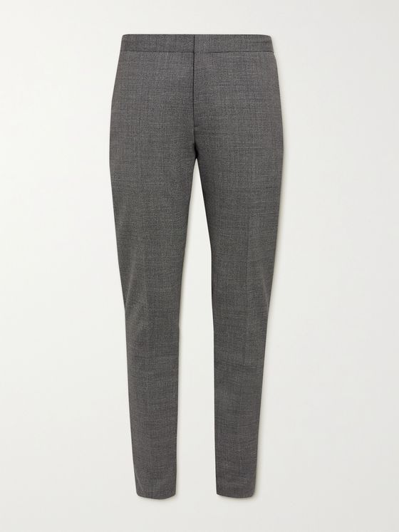 HUGO BOSS Slim-Fit Puppytooth Stretch Virgin Wool Trousers