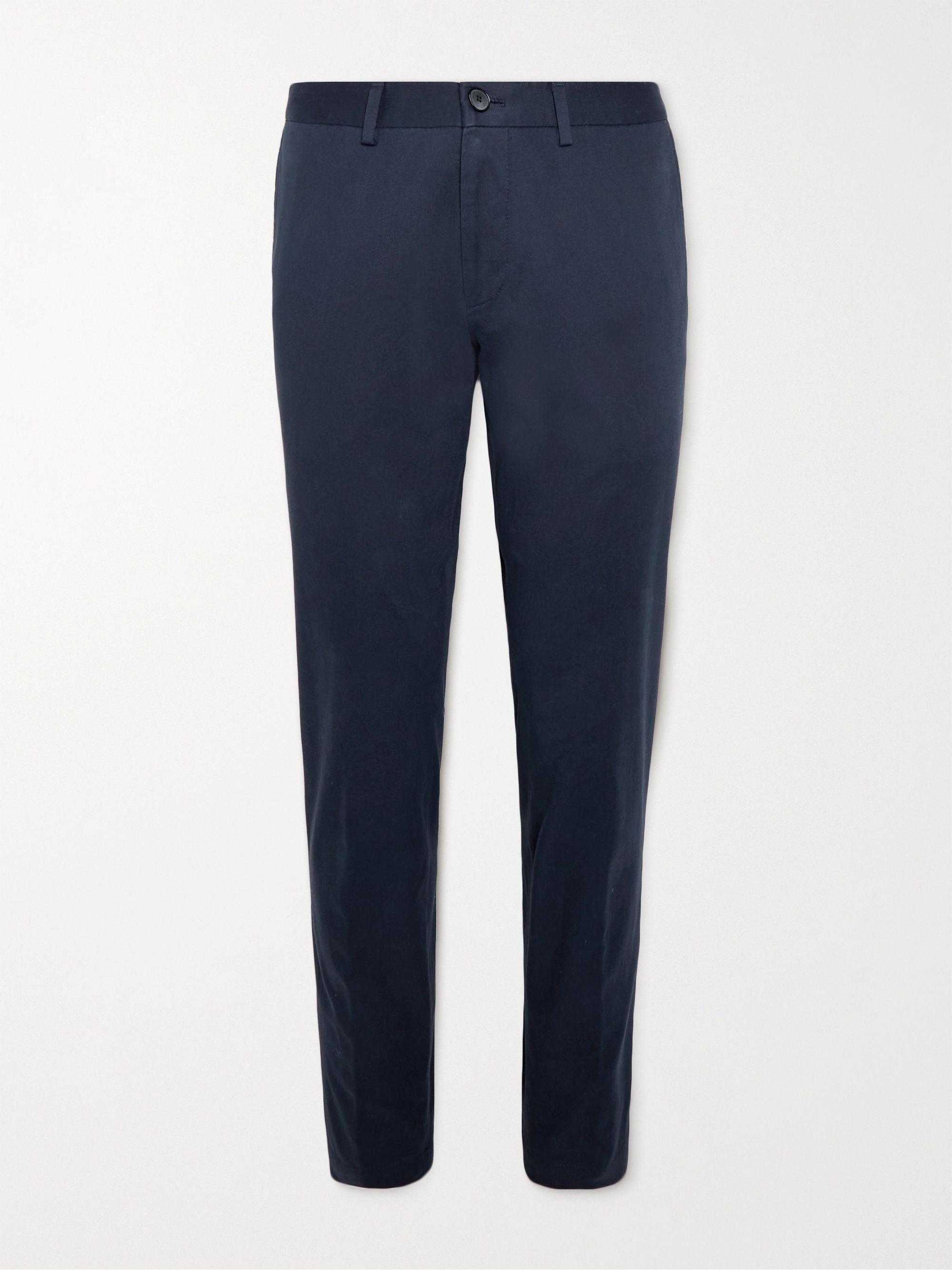 HUGO BOSS Wylson Slim-Fit Stretch-Cotton Twill Trousers