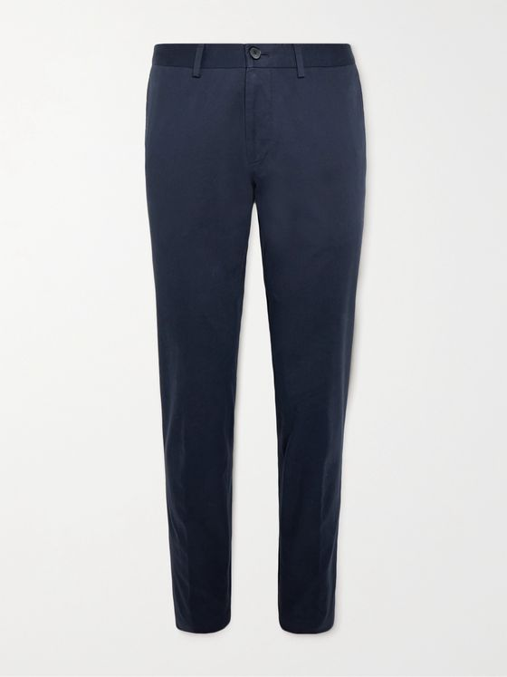 HUGO BOSS Wylson Slim-Fit Stretch-Cotton Twill Trousers