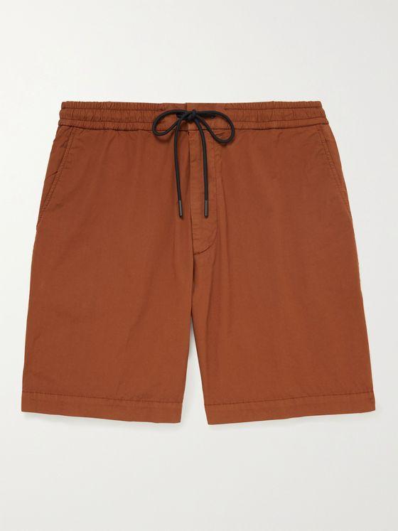 HUGO BOSS Kenso Stretch-Cotton Poplin Drawstring Shorts