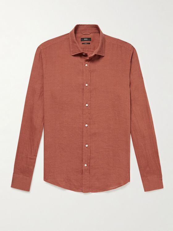 HUGO BOSS Joy Linen Shirt