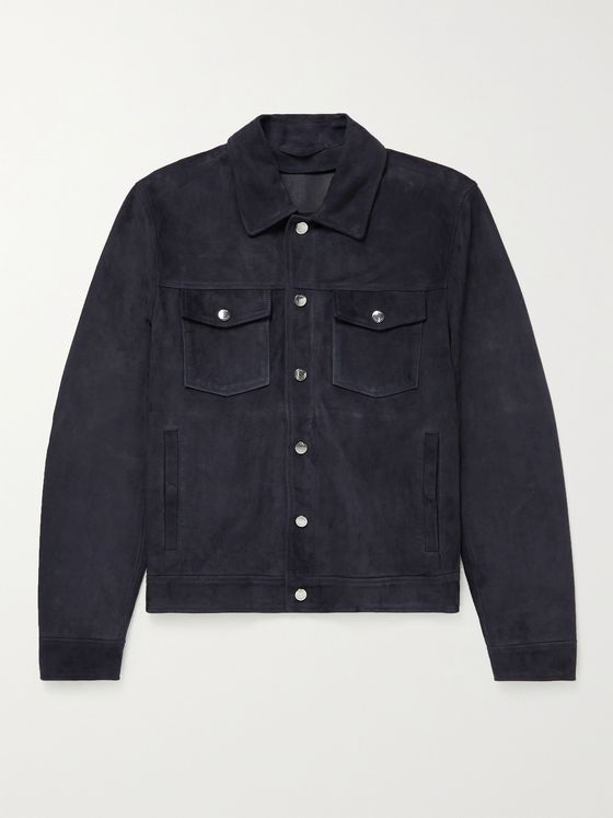 HUGO BOSS Suede Trucker Jacket