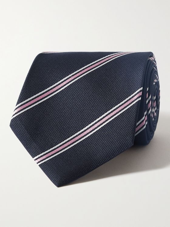 HUGO BOSS 8cm Striped Silk-Jacquard Tie