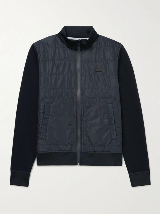 HUGO BOSS Reversible Padded Shell and Cotton-Blend Jersey Jacket