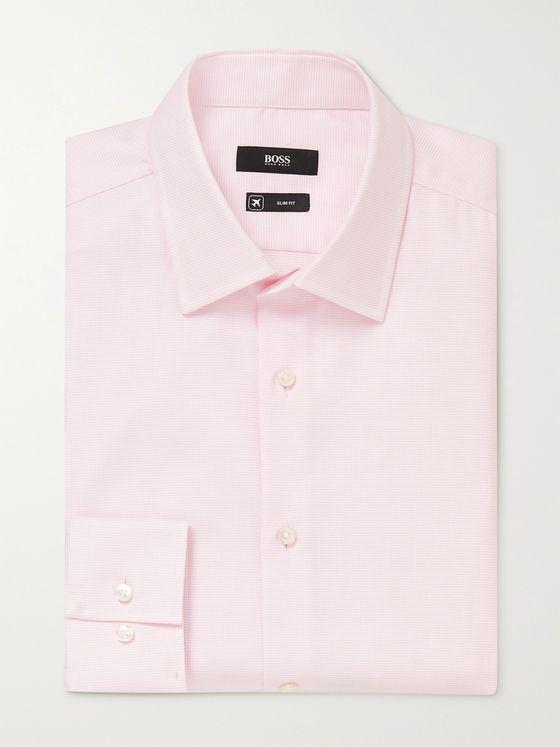 HUGO BOSS Jango Slim-Fit Cotton-Pique Shirt