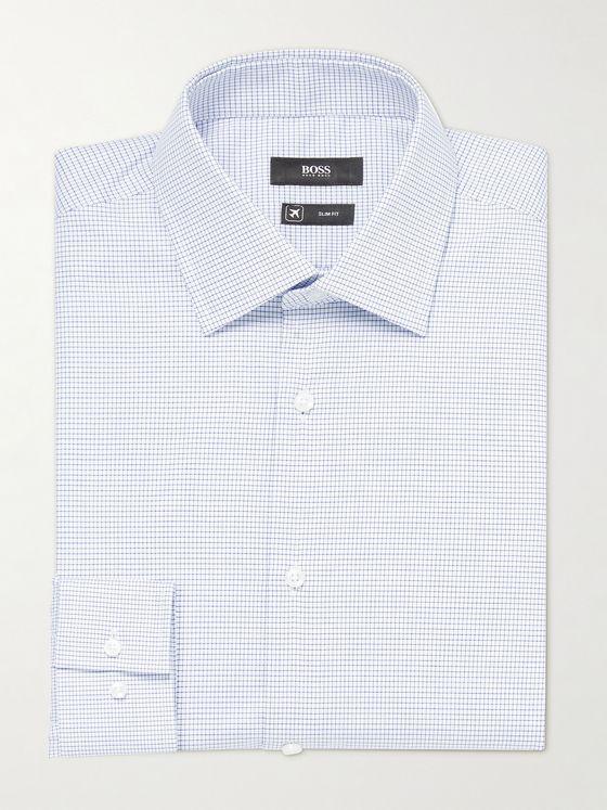 HUGO BOSS Jango Slim-Fit Checked Cotton Shirt