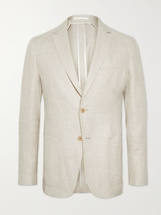 HUGO BOSS Slim-Fit Hemp and Virgin Wool-Blend Blazer