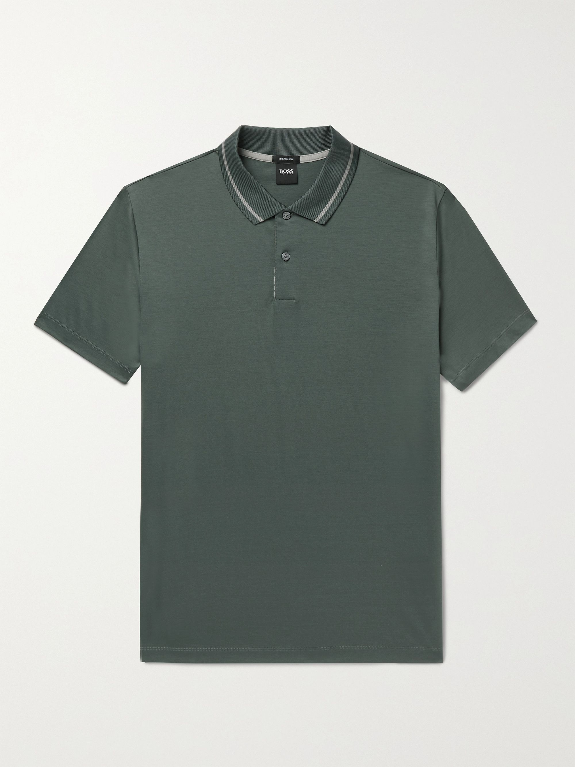 HUGO BOSS Mercerised Cotton Polo Shirt