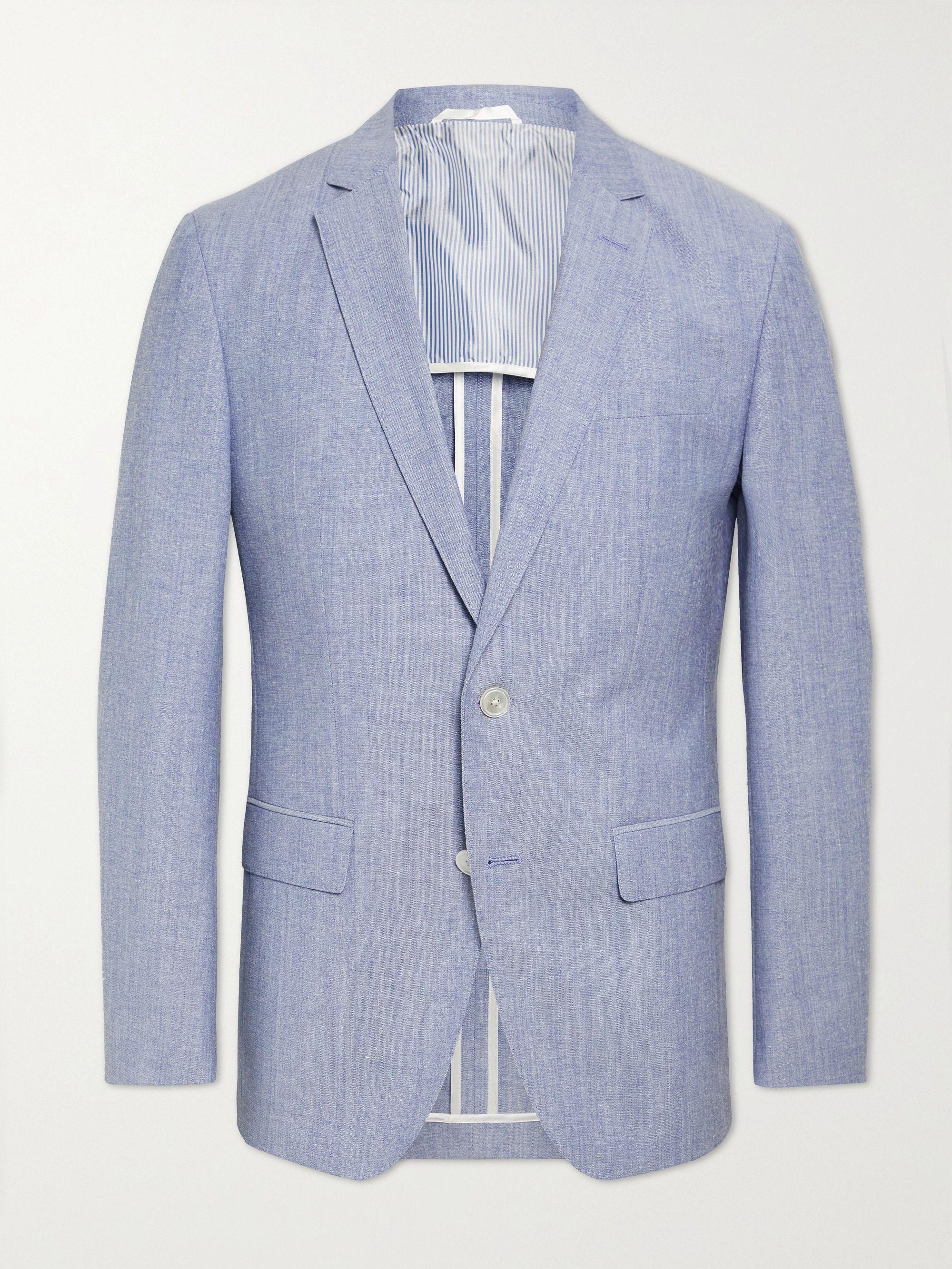 HUGO BOSS Hartlay2 Slim-Fit Melange Cotton and Virgin Wool-Blend Suit Jacket