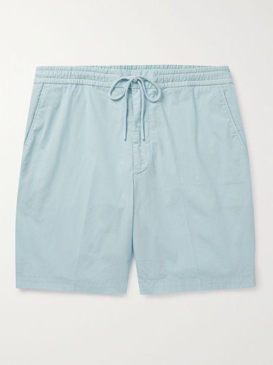 HUGO BOSS Kenso Wide-Leg Stretch-Cotton Poplin Drawstring Shorts