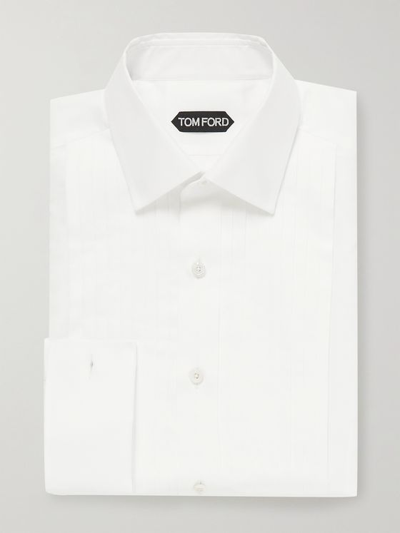 TOM FORD Bib-Front Cotton Tuxedo Shirt