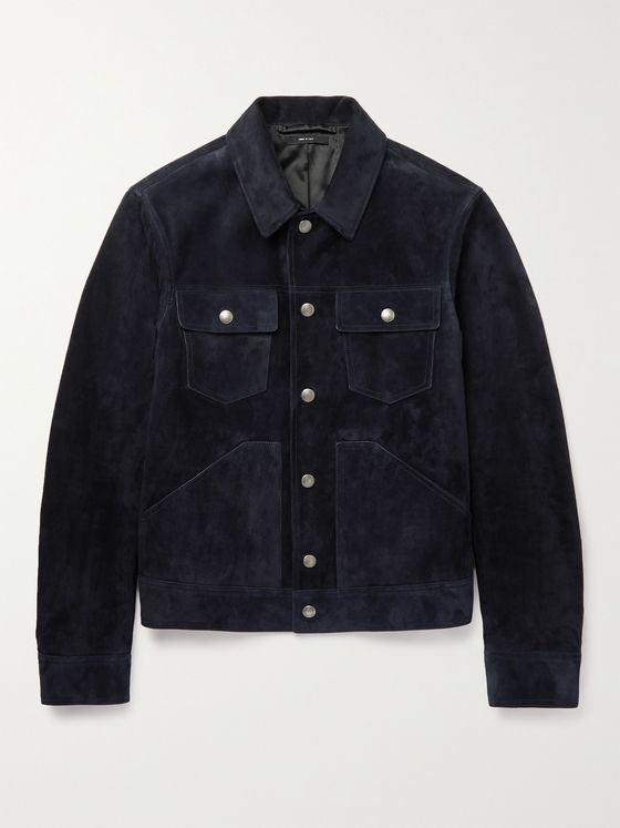 TOM FORD Slim-Fit Suede Blouson Jacket