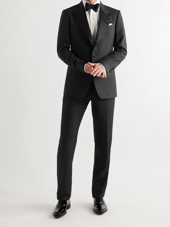 TOM FORD Shelton Slim-Fit Satin-Trimmed Wool Tuxedo Jacket