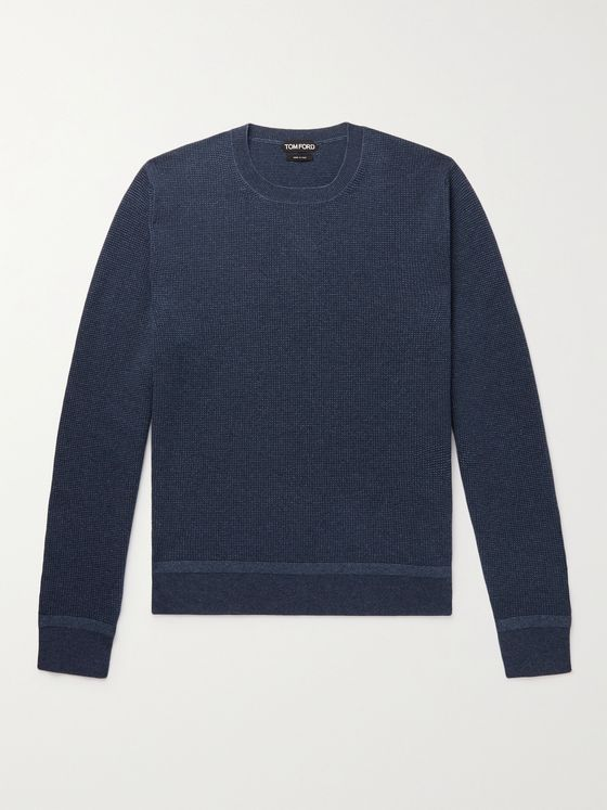 TOM FORD Mélange Cashmere and Wool-Blend Sweater