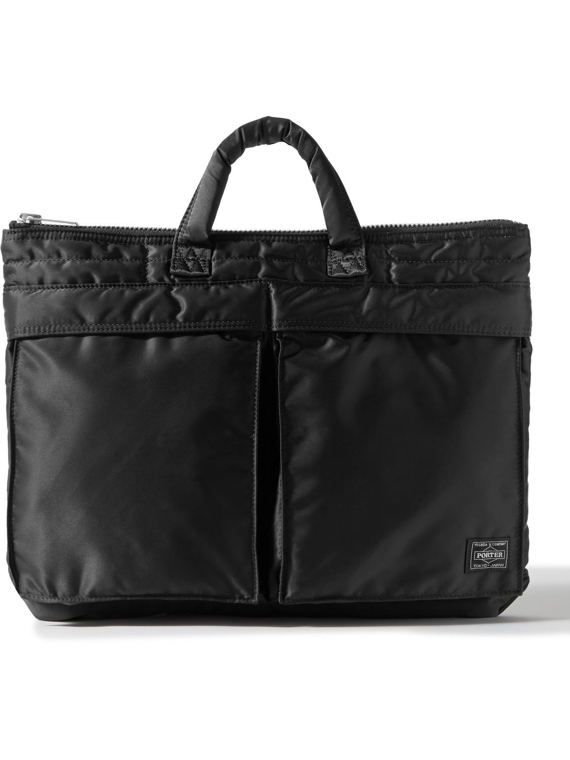 Porter, Yoshida & Co Tanker Padded Nylon Briefcase In Black