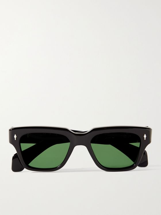 JACQUES MARIE MAGE Fellini Square-Frame Acetate Sunglasses
