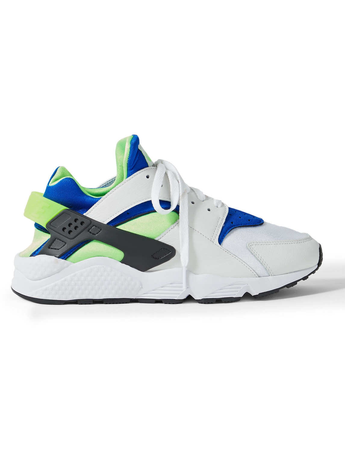 Nike - Air Huarache Leather And Rubber-Trimmed Neoprene Sneakers - Men - White - Us 7.5