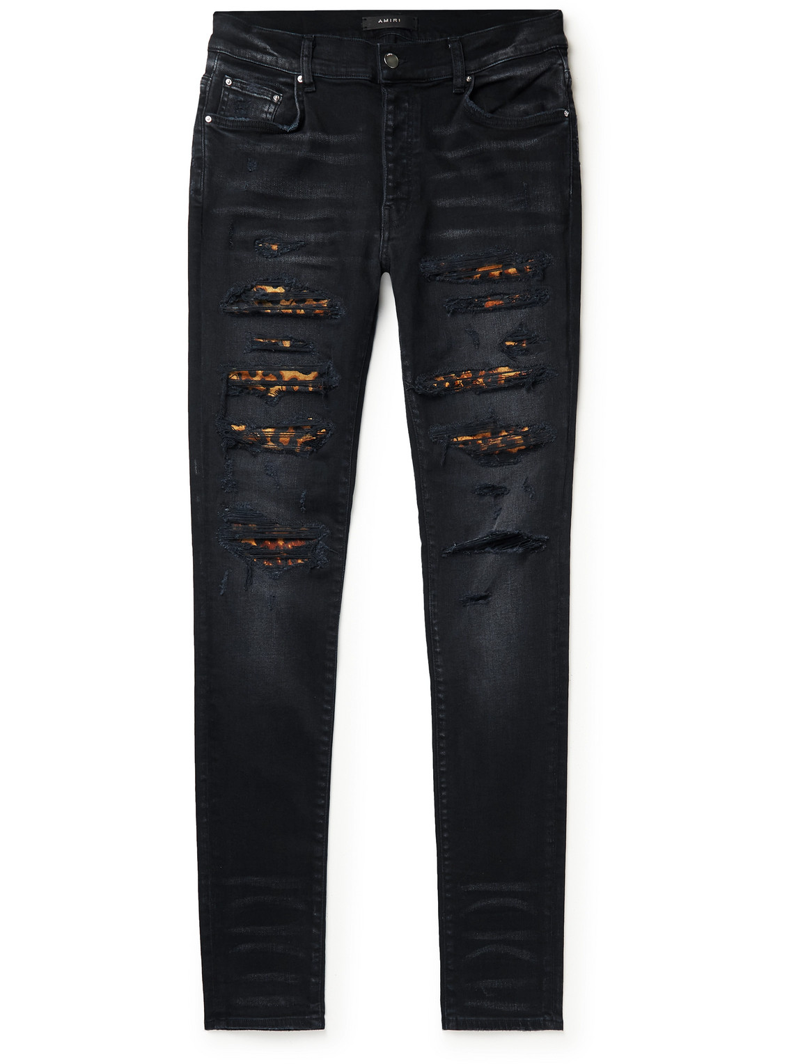 Thrasher Skinny-Fit Distressed Panelled Jeans