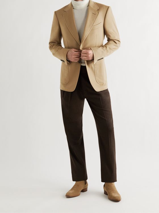 TOM FORD Shelton Slim-Fit Brushed Cashmere-Twill Blazer