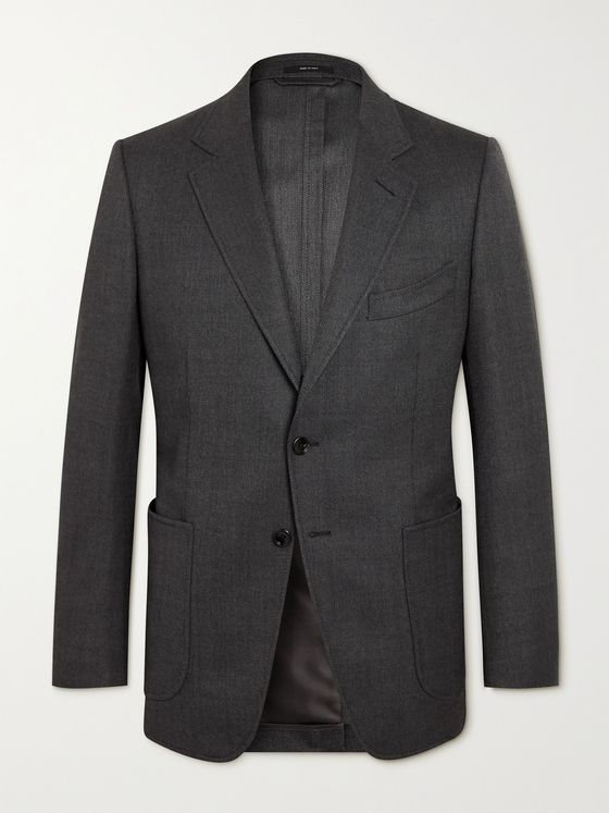 TOM FORD O'Connor Slim-Fit Honeycomb Mohair-Blend Blazer