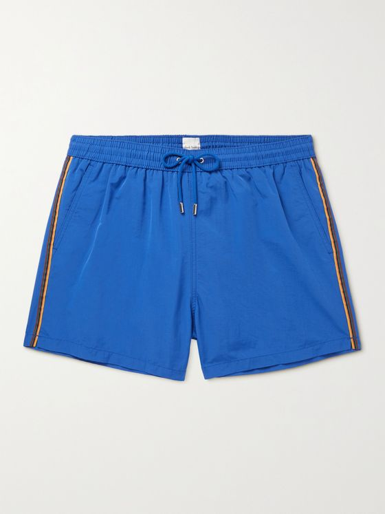 PAUL SMITH Short-Length Striped Swim Shorts