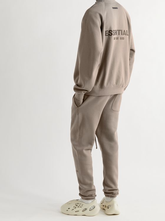 FEAR OF GOD ESSENTIALS Logo-Detailed Cotton-Blend Jersey Sweatshirt