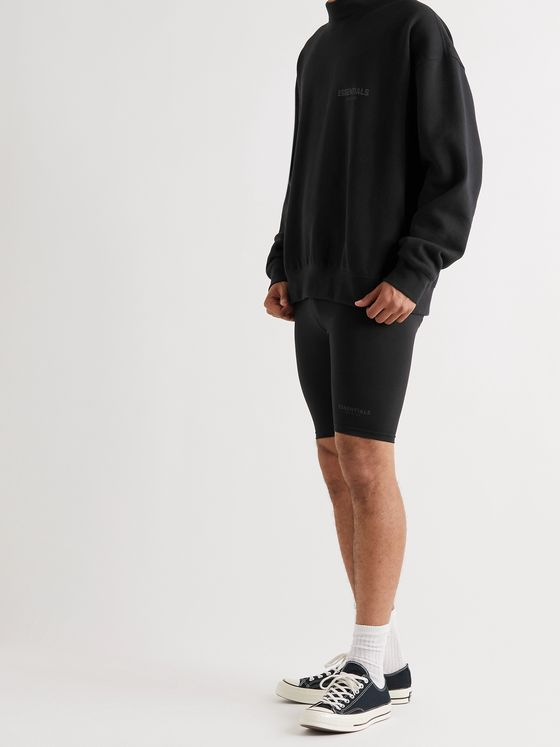 FEAR OF GOD ESSENTIALS Logo-Detailed Stretch-Jersey Shorts