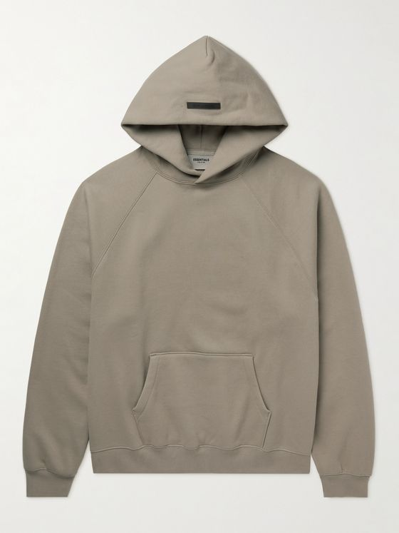 FEAR OF GOD ESSENTIALS Logo-Detailed Cotton-Blend Jersey Hoodie