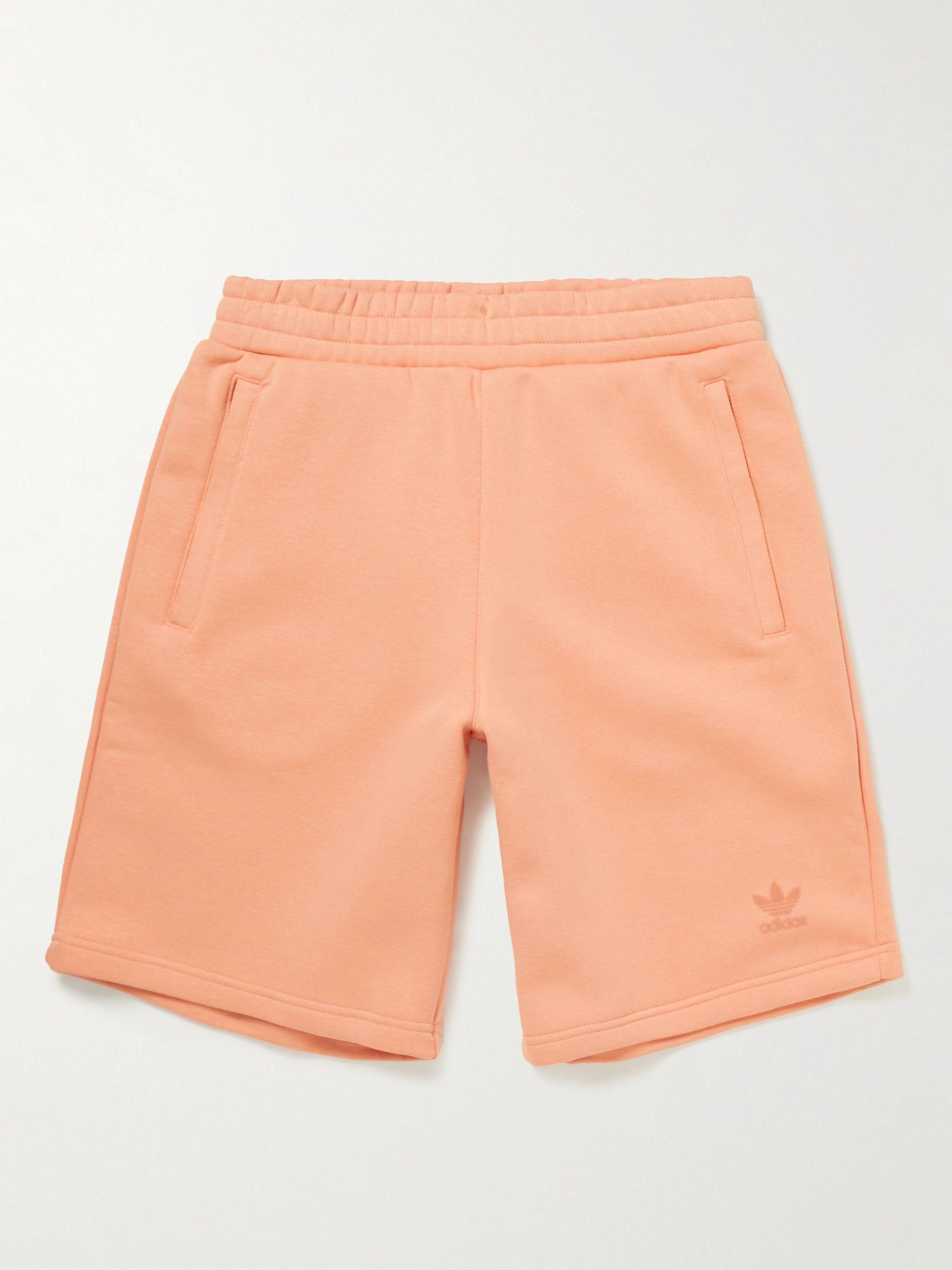 Logo-Flocked Cotton-Blend Jersey Shorts