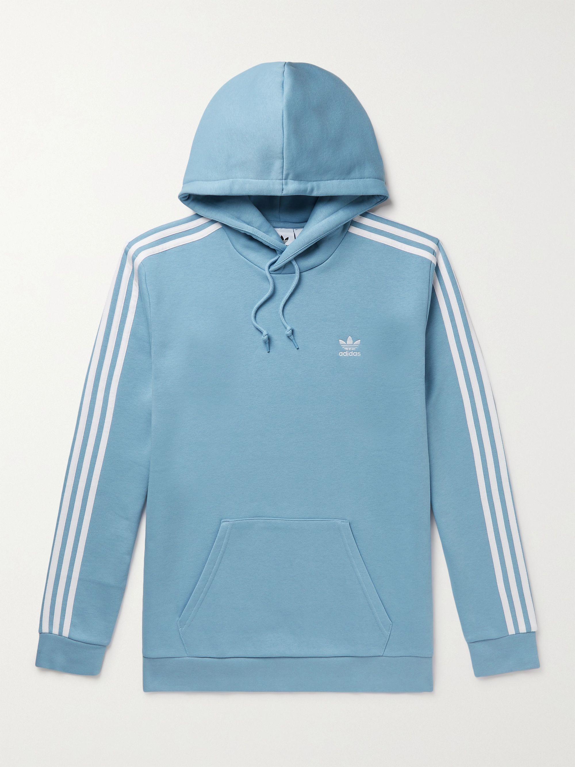 Adicolor Classics 3-Stripes Cotton-Blend Jersey Hoodie