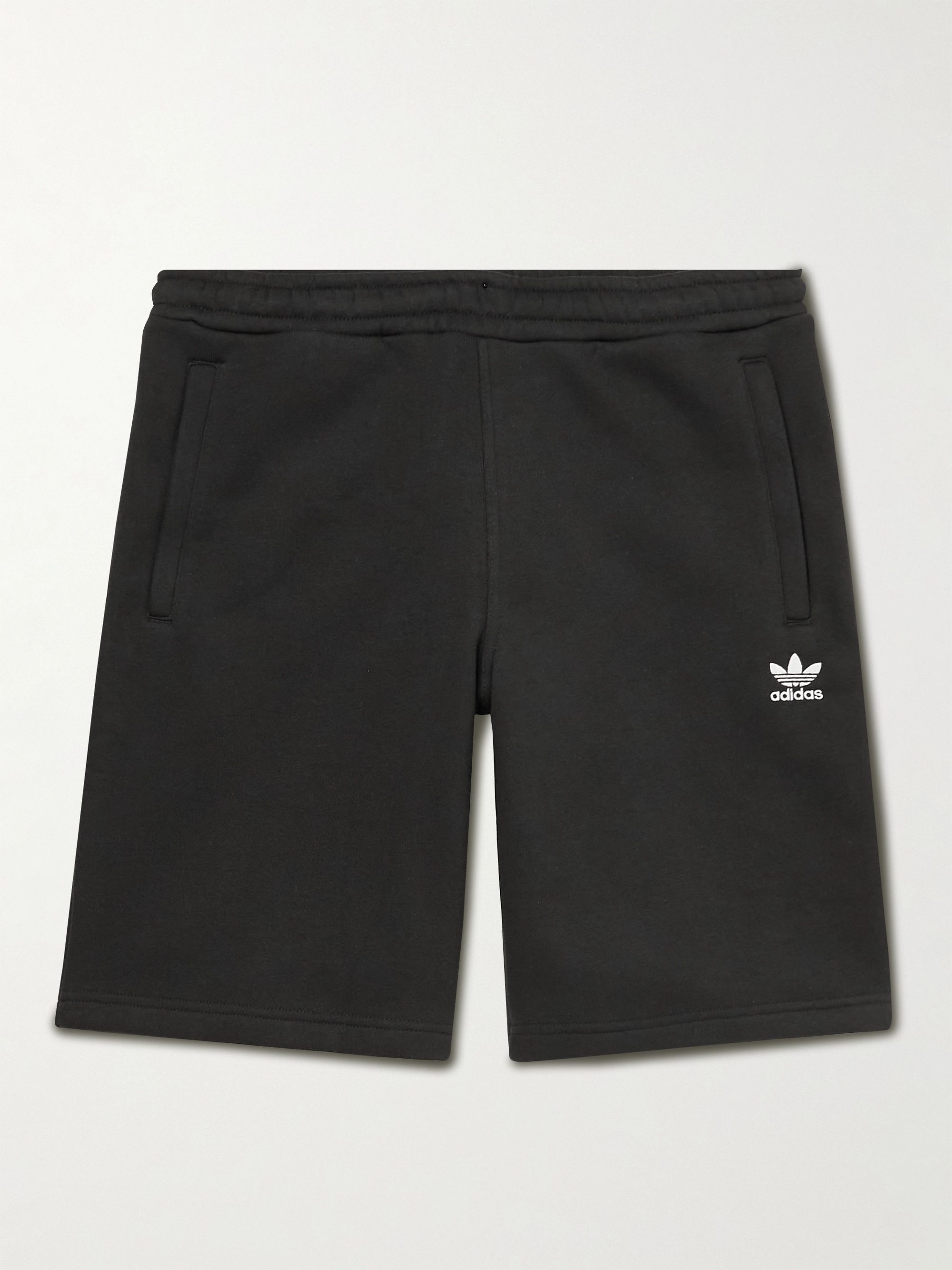 아디다스 Adidas Adicolor Essentials Wide-Leg Logo-Embroidered Primegreen Shorts,Black