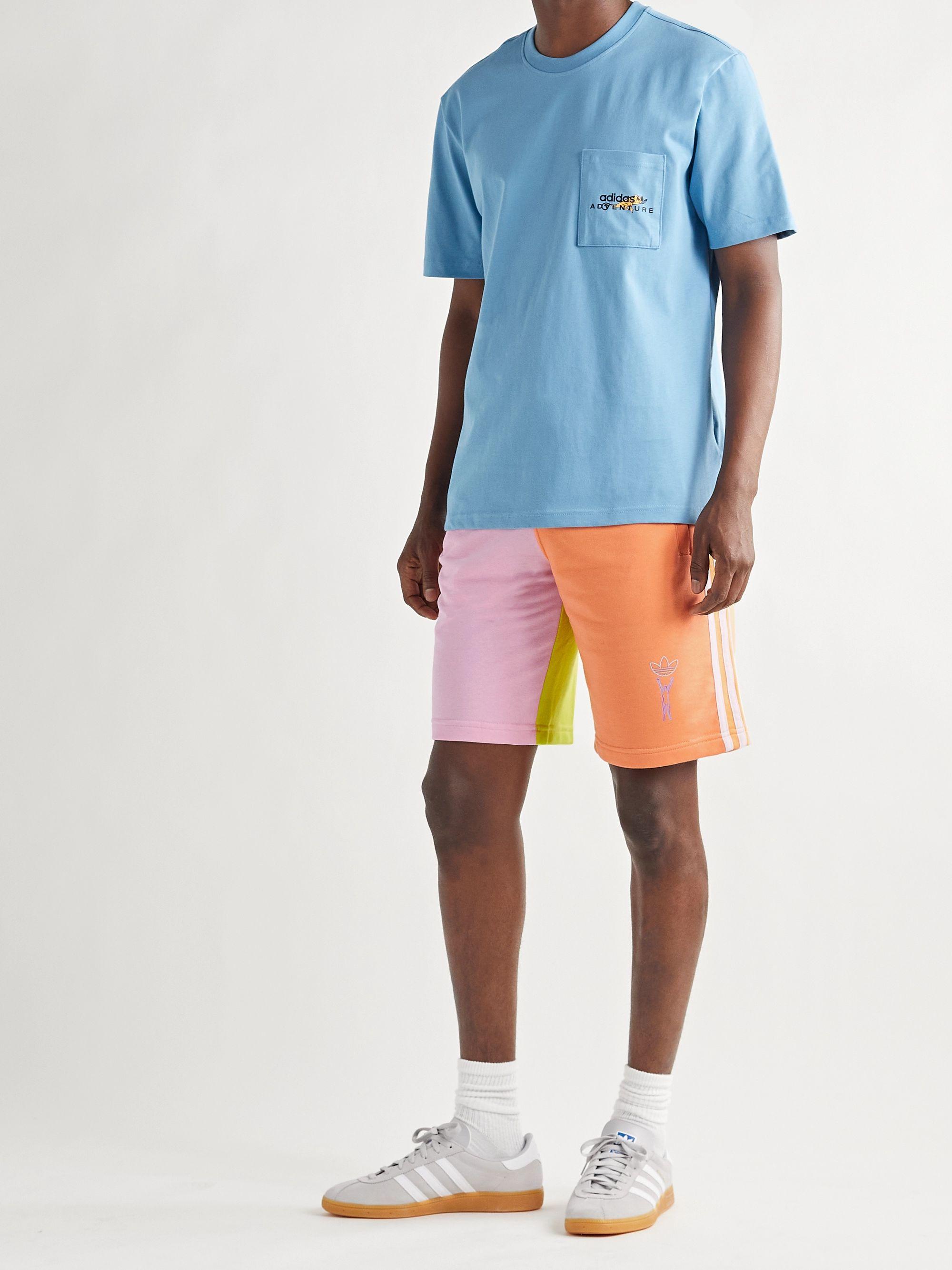 Love Unites Colour-Block Cotton-Blend Jersey Shorts