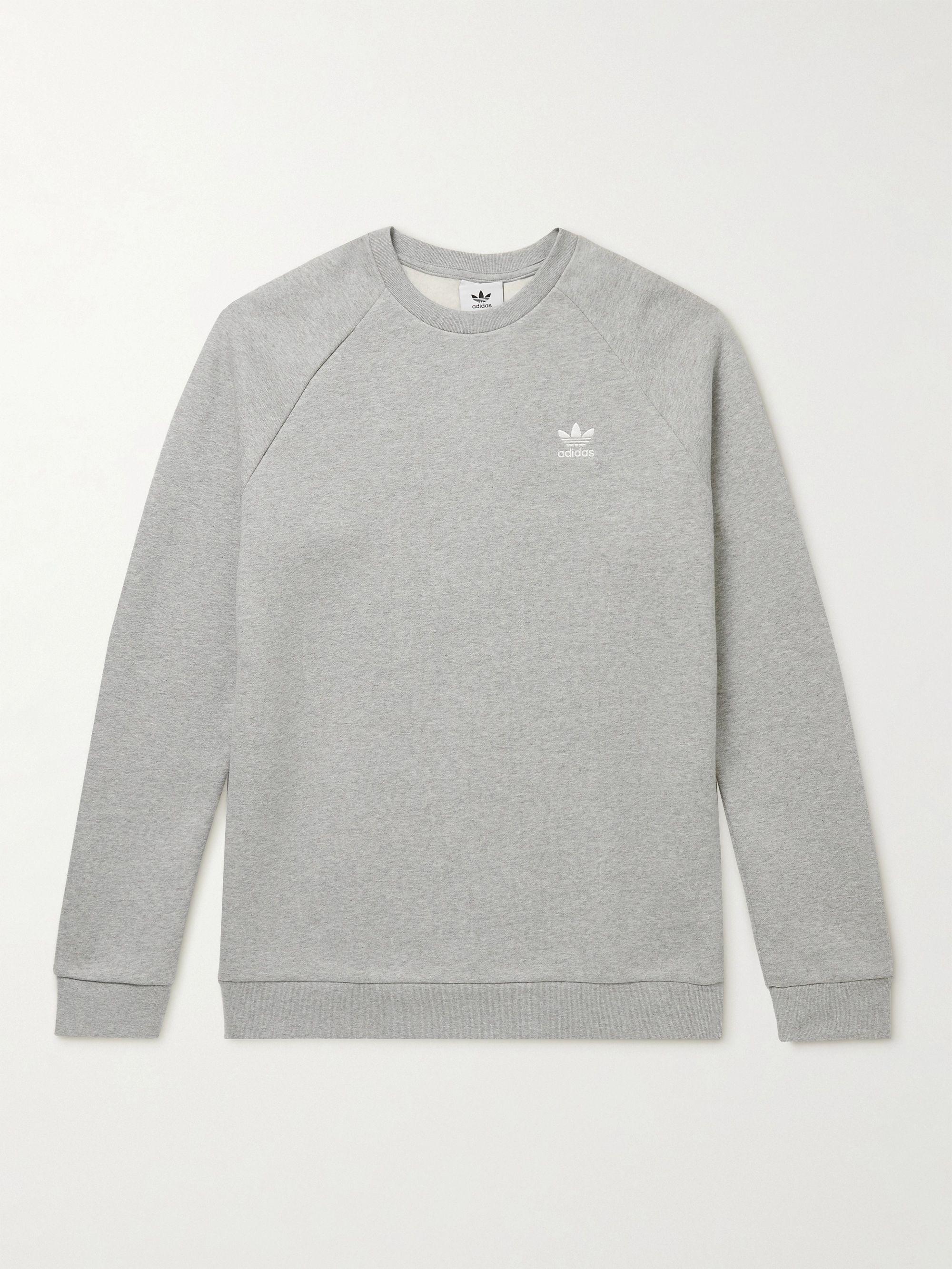 Logo-Embroidered Cotton-Blend Jersey Sweatshirt