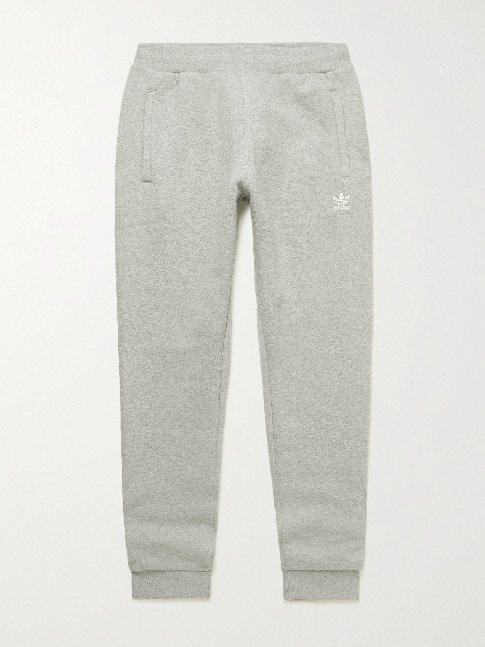 Gray Adicolor Essentials Cotton-Blend Jersey Sweatpants   ADIDAS ...