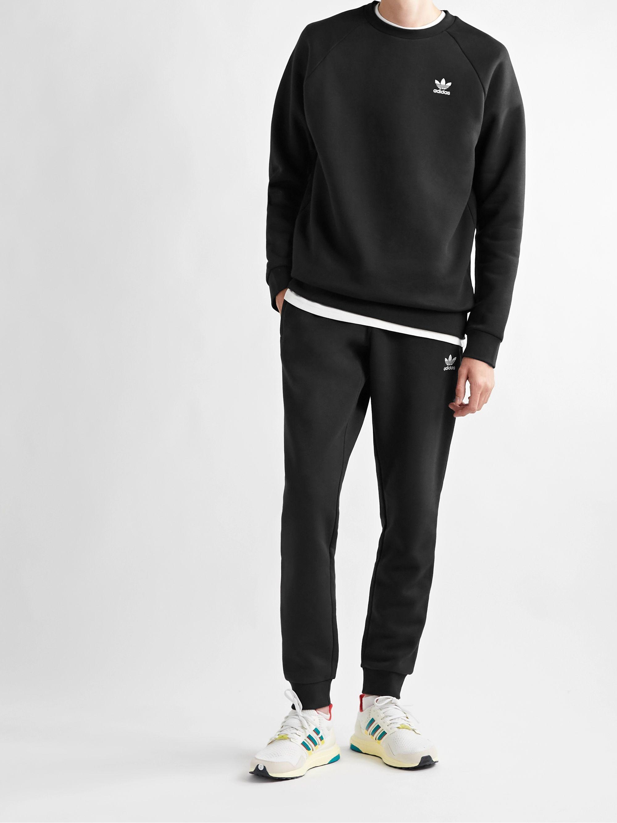 Adicolor Essentials Logo-Embroidered Cotton-Blend Jersey Sweatshirt